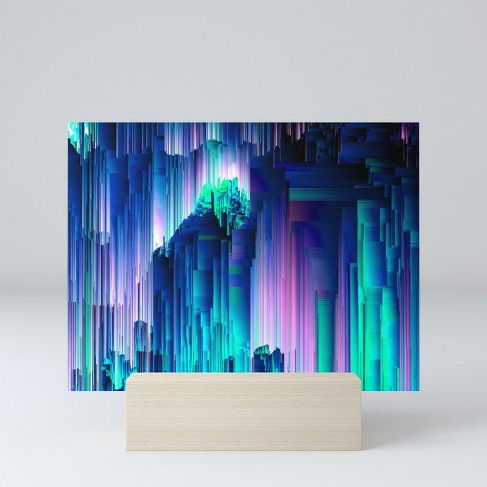 Glitches Be Trippin' - Abstract Pixel Art Mini Art Print
