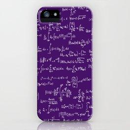 Math Equations // Purple iPhone Case