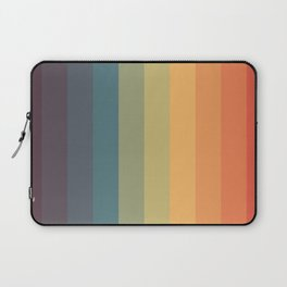 Colorful Retro Striped Rainbow Laptop Sleeve