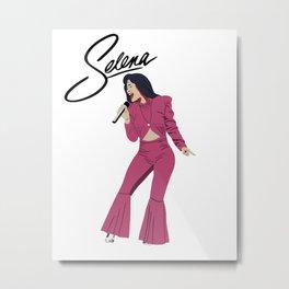 Selena Quintanilla Illustration Metal Print