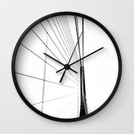 Normandy Bridge 2 Wall Clock