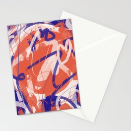 Orange and blue new abstract  Stationery Cards