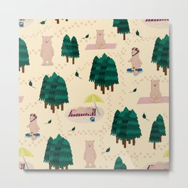 Bears in the forest Metal Print