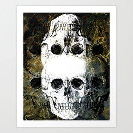 Skull Graffiti 1.0 Art Print