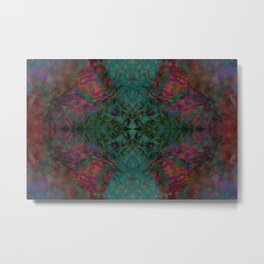 Abstract Symmetrical Image Metal Print