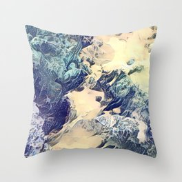 BLUE SURF - Abstract Sea Study Throw Pillow