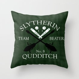 Slytherin Team Beater Throw Pillow