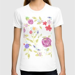 Nature botanical floral pattern T-shirt