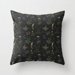 Witches Garden Throw Pillow