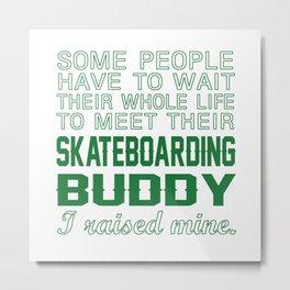 Skateboarding Buddy Metal Print