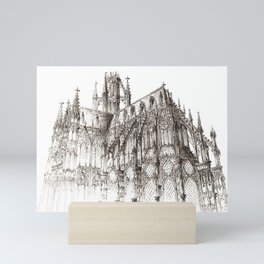Cathedral ink Mini Art Print