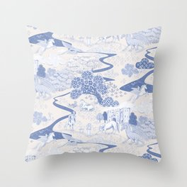 Mythical Creatures Toile Throw Pillow