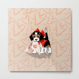 The Love Puppy — Love Letter Metal Print