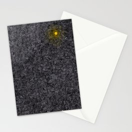 Blurred light in the darkness Stationery Cards