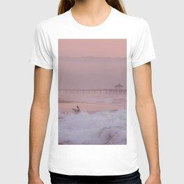 Manhattan Beach Surfer at Sunset T-Shirt