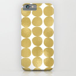 Midcentury Modern Dots in Gold iPhone Case