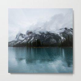 Smokey Mountains Landscape Photography Alberta Metal Print
