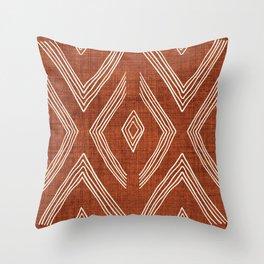 Birch in Rust Throw Pillow