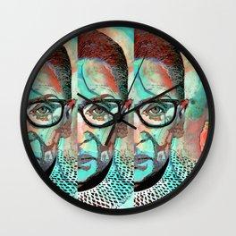 Fierce Woman - Ruth Bader Ginsburg Art Portrait - Sharon Cummings Wall Clock