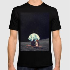 We Used To Live There Black MEDIUM Mens Fitted Tee