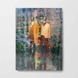 Boutique shop store window with men´s fall fashion 2019 Metal Print