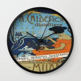Vintage poster - A. Calderoni Gioielliere Wall Clock