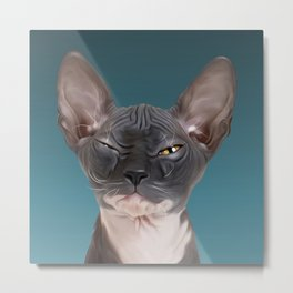 Sphynx Kitten III Metal Print