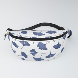 Blue Ginkgo Biloba Pattern Fanny Pack