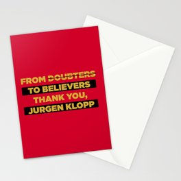 Klopp Champions Retro Stationery Cards