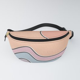 "Ocean Surf ""Let Your Happiness Be the Waves"" // Chill Retro Minimalist Colorful California Summer  Fanny Pack"