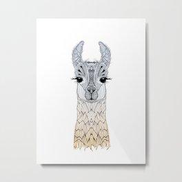 BABY LAMA (CRIA) Metal Print