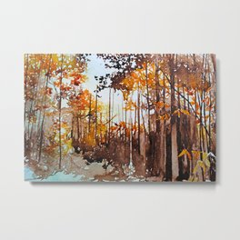 Autumn Exploration Metal Print