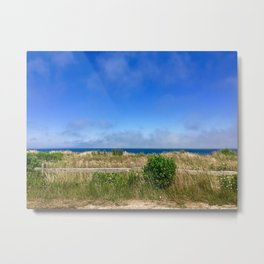 Sconset Lighthouse View in Nantucket Metal Print