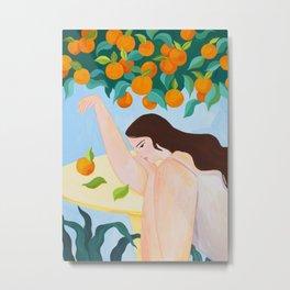 Under The Orange Tree Metal Print