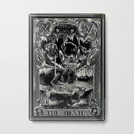 THE DEVIL of Tarot Cats Metal Print