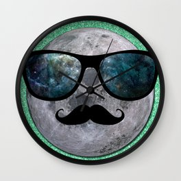 HIPSTER MOON Wall Clock