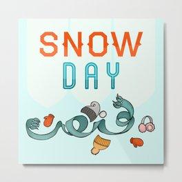 Snow Day Metal Print