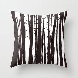 The Trees and The Forest Throw Pillow