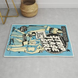Vintage poster - Strip tease Girl Rug