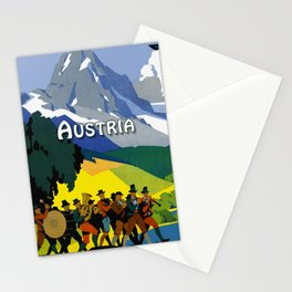 Austria - Vintage Travel Ad Stationery Cards