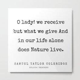 84     | Samuel Taylor Coleridge Poems | 200207 Metal Print