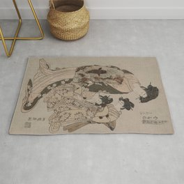 Japanese Art Print - Koryusai - Ukifune of the House of Kanaya (1778) Rug
