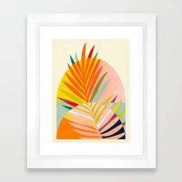 minimal leave tropical spring Framed Art Print