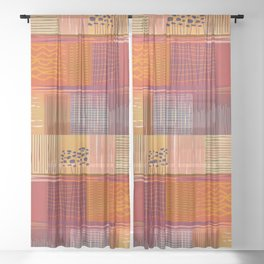 Bird's View Abstract Landscape Sheer Curtain