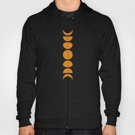 Minimal Moon Phases - Orange Hoody