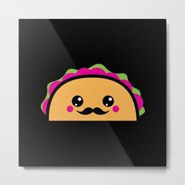 Kawaii Taco Meal Gift Idea Motif Design Metal Print