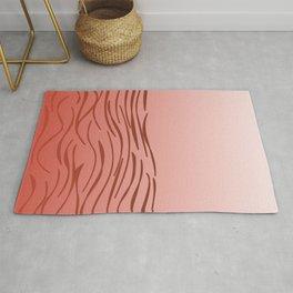 design wild lines - pink, gold jaguar Rug
