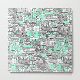 Paris toile aquamarine Metal Print