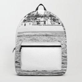 Vintage Newport Beach Print {4 of 4} | Photography Ocean Palm Trees B&W Tropical Summer Sky Backpack