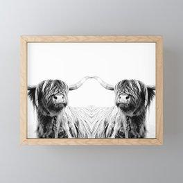 HIGHLAND CATTLE FRIDA Framed Mini Art Print